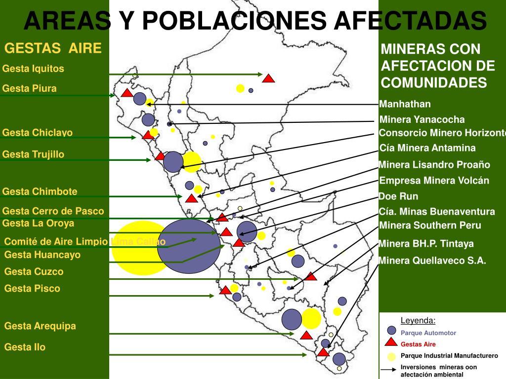MINERAS CON AFECTACION DE  COMUNIDADES