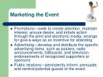 marketing the event