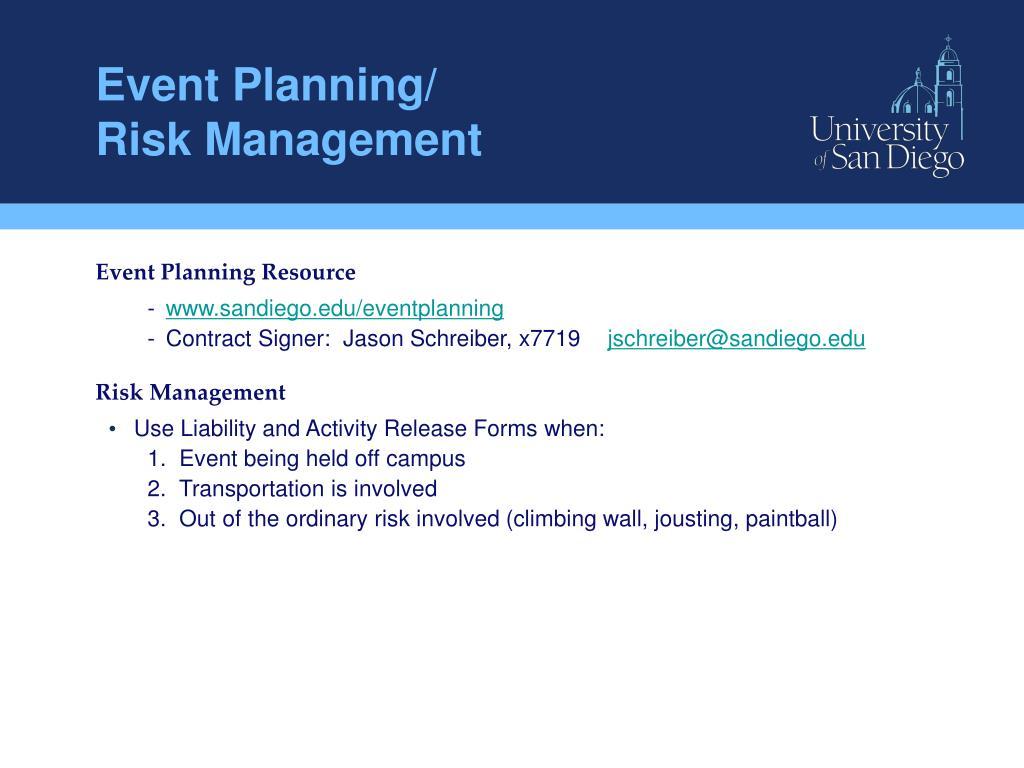 Event Planning/