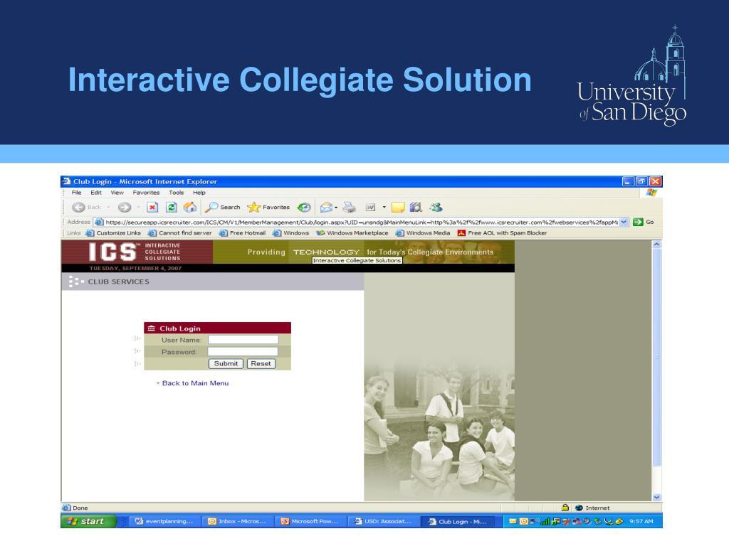 Interactive Collegiate Solution