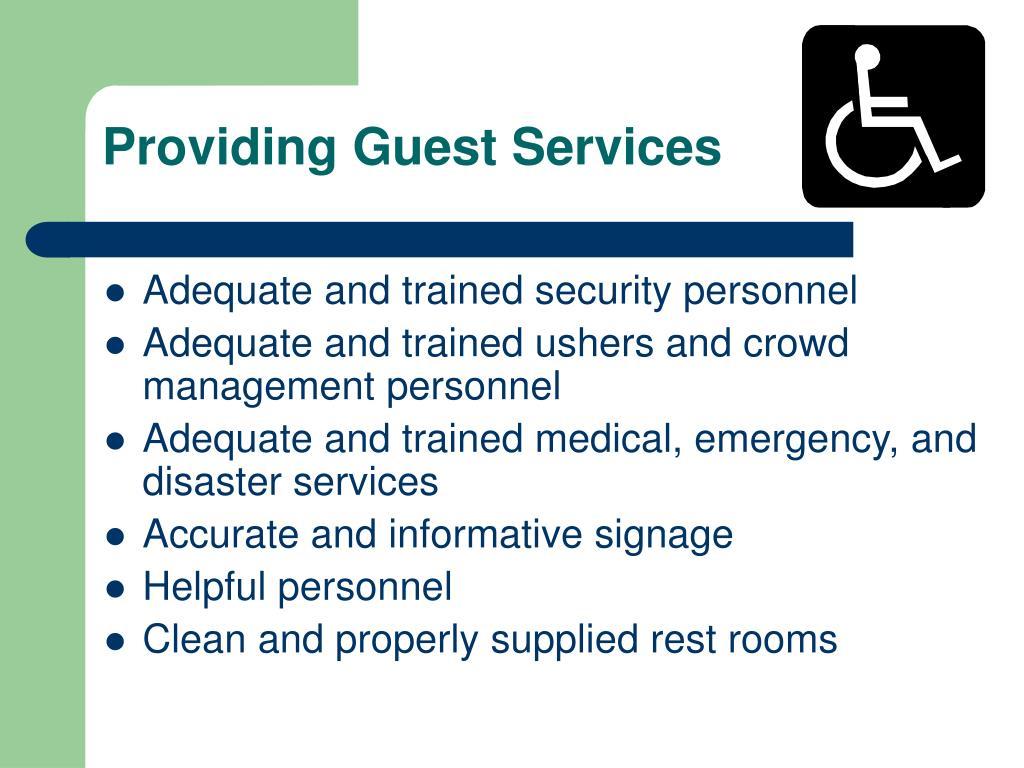 Providing Guest Services