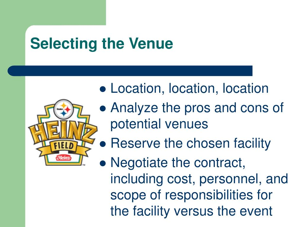 Selecting the Venue