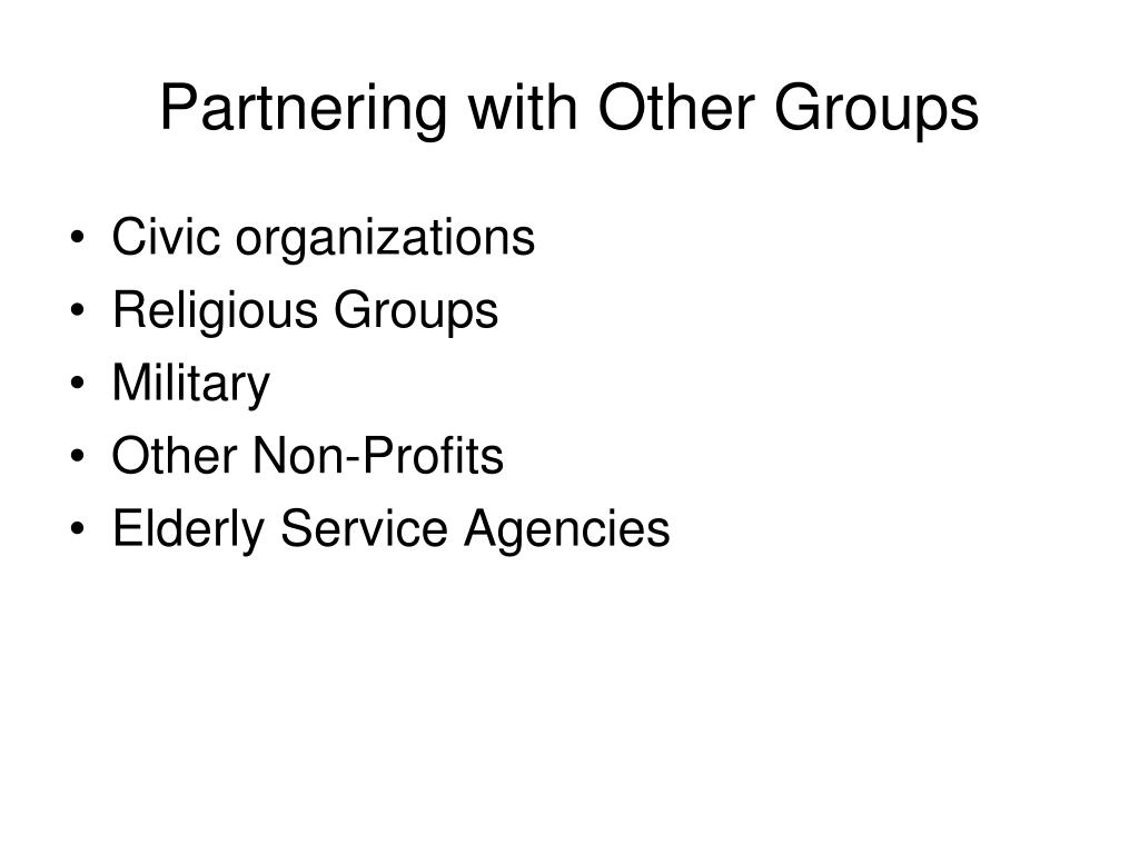Partnering with Other Groups