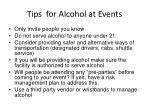 tips for alcohol at events