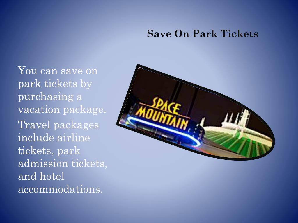 Save On Park Tickets