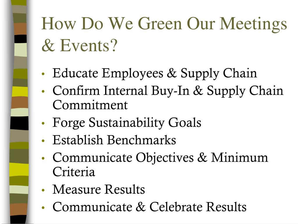 How Do We Green Our Meetings & Events?