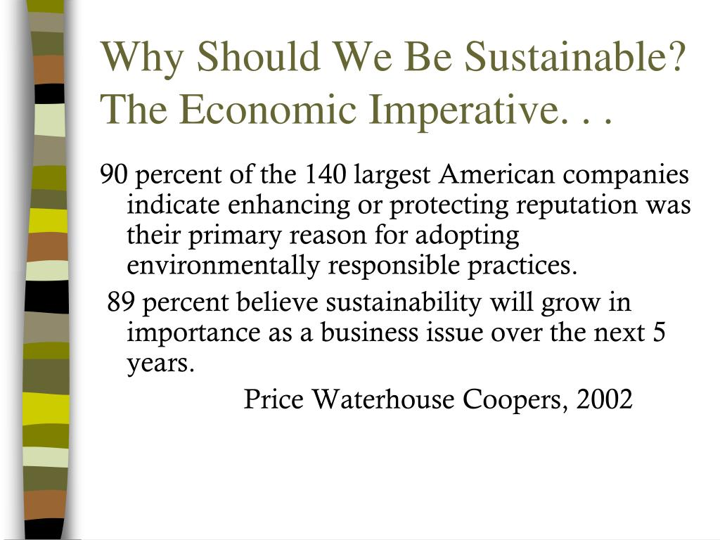 Why Should We Be Sustainable?
