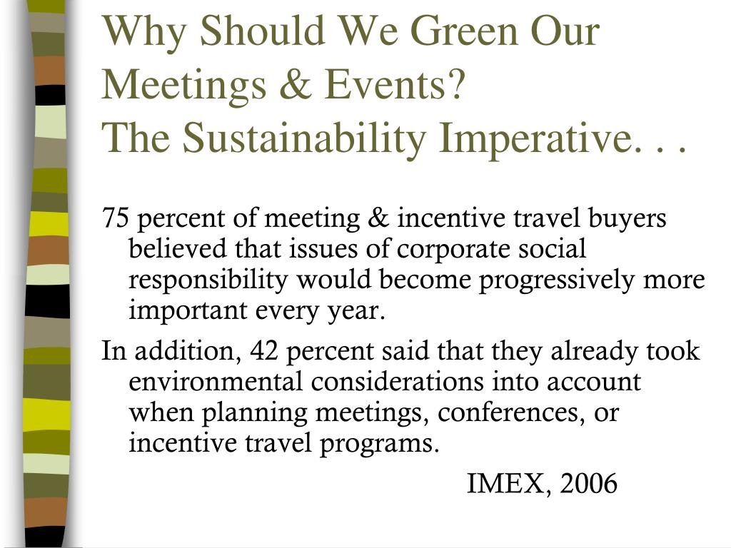 Why Should We Green Our Meetings & Events?