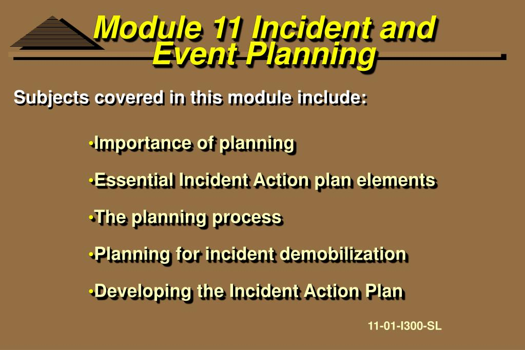 Module 11 Incident and