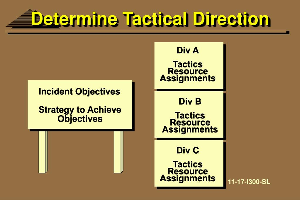 Determine Tactical Direction