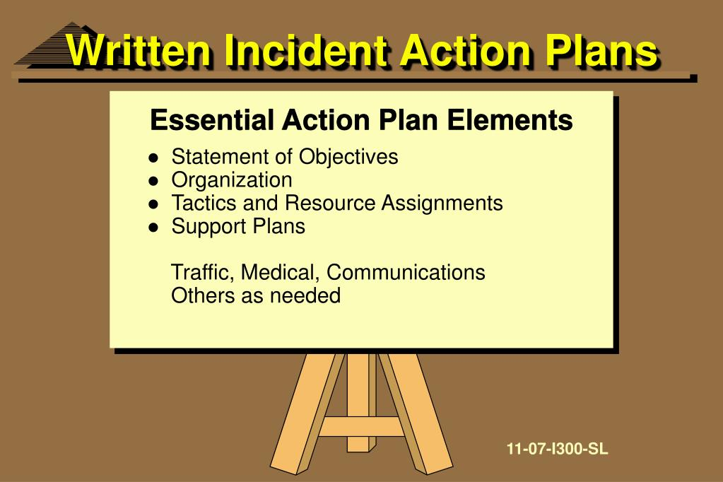 Written Incident Action Plans