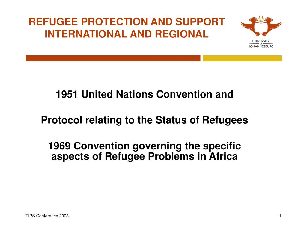 REFUGEE PROTECTION AND SUPPORT  INTERNATIONAL AND REGIONAL