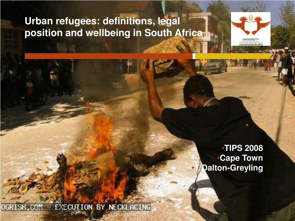 urban refugees definitions legal position and wellbeing in south africa
