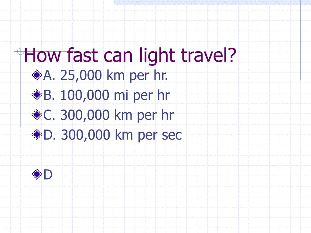 How fast can light travel?