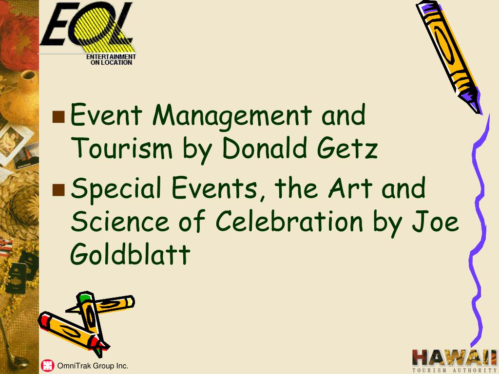Event Management and Tourism by Donald Getz