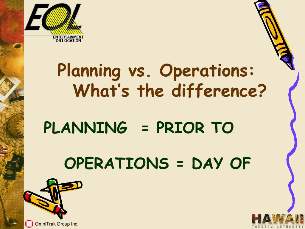 Planning vs. Operations: What's the difference?