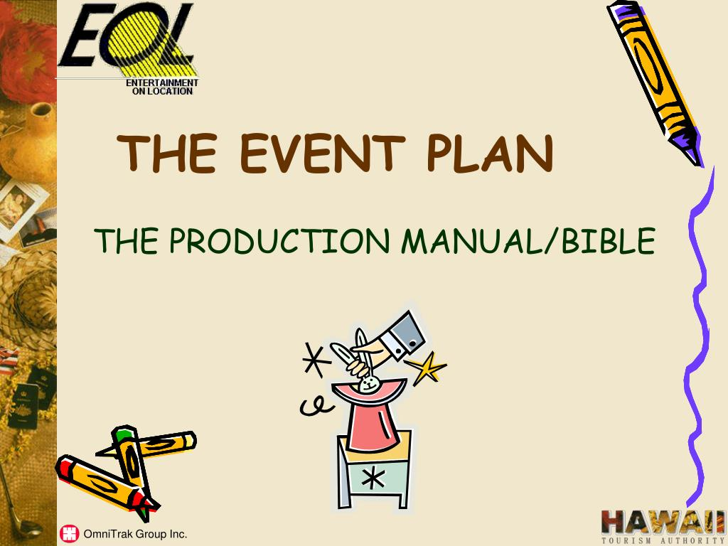 THE EVENT PLAN
