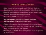 database links solution