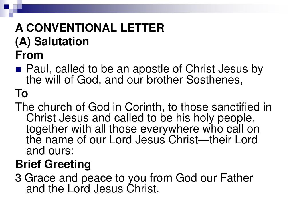 A CONVENTIONAL LETTER