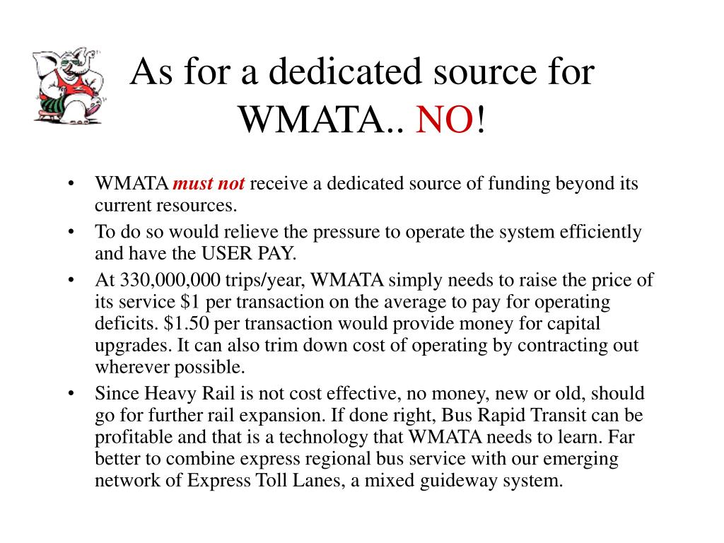 As for a dedicated source for WMATA..
