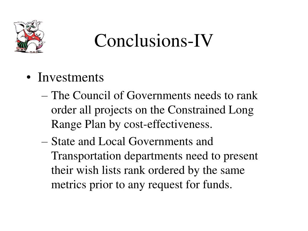 Conclusions-IV