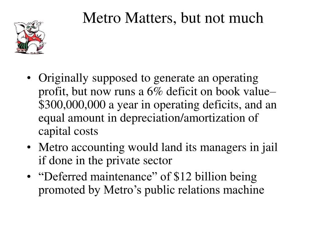 Metro Matters, but not much