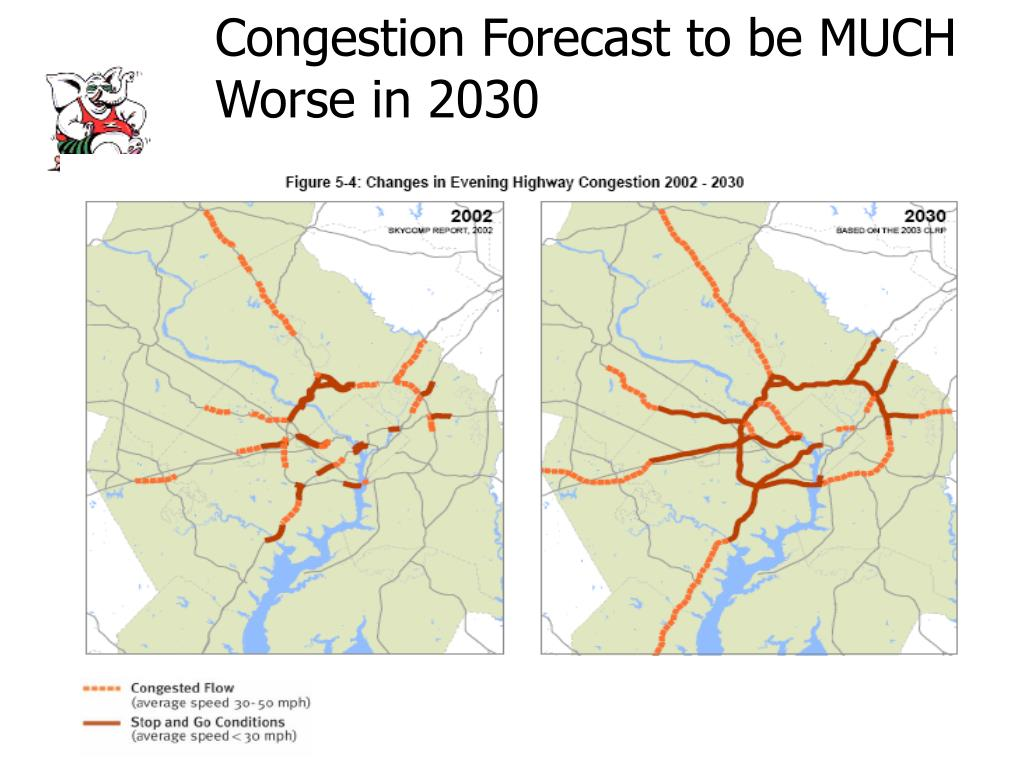 Congestion Forecast to be MUCH Worse in 2030