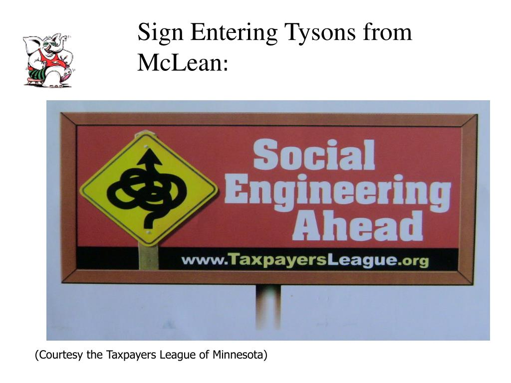 Sign Entering Tysons from McLean