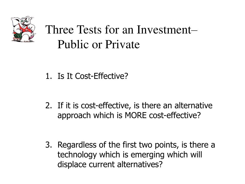 Three Tests for an Investment– Public or Private