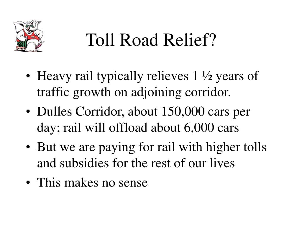 Toll Road Relief?