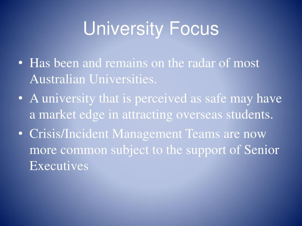 University Focus