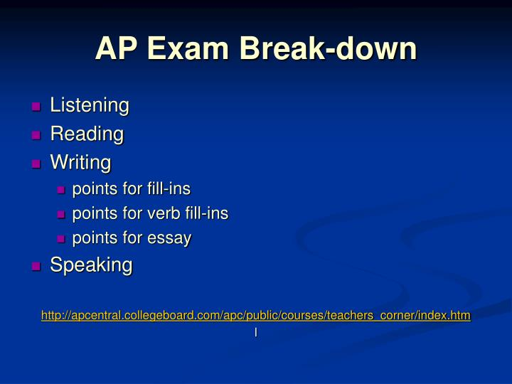 AP Exam Break-down