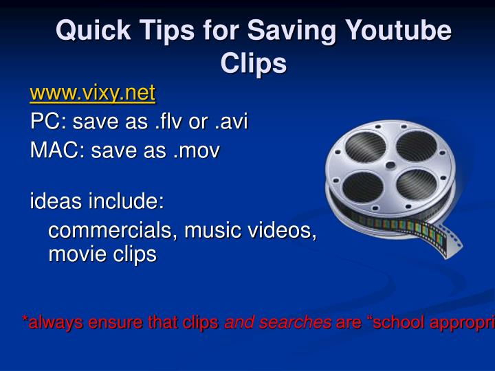 Quick Tips for Saving Youtube Clips