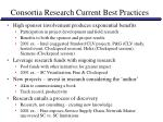 consortia research current best practices