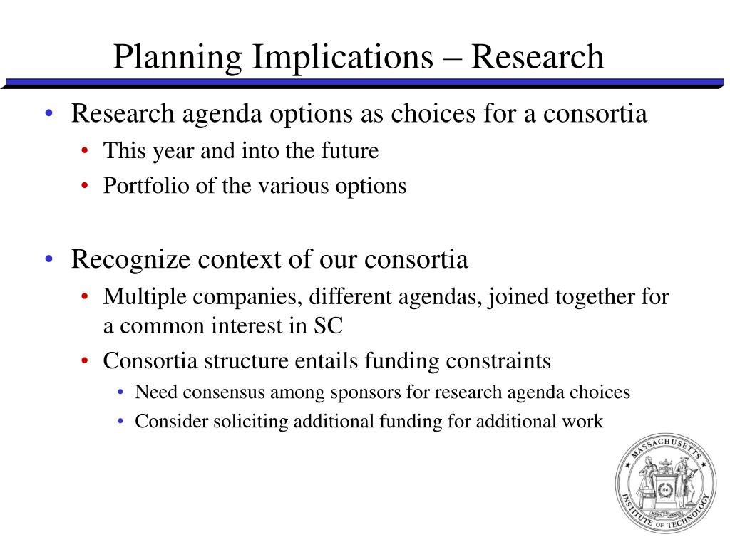 Planning Implications – Research