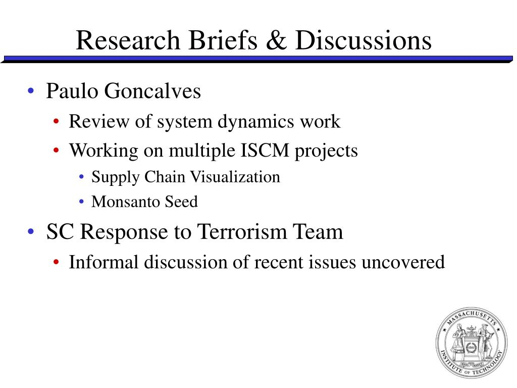 Research Briefs & Discussions