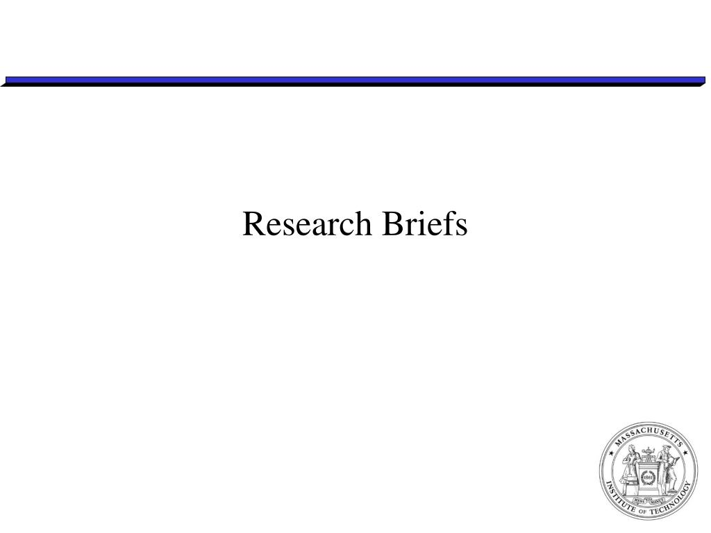 Research Briefs