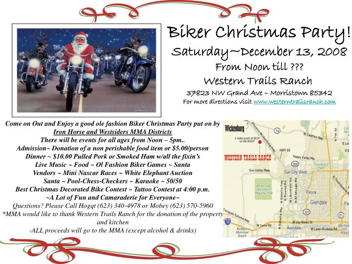 Biker Christmas Party!