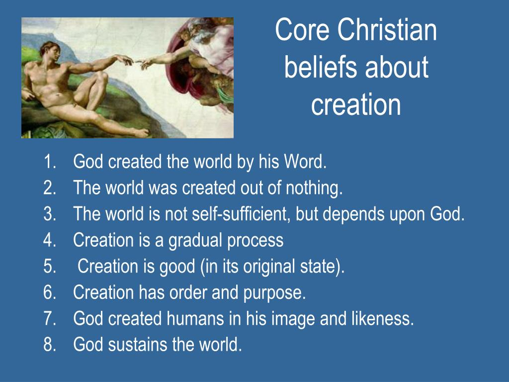 Core Christian beliefs about creation