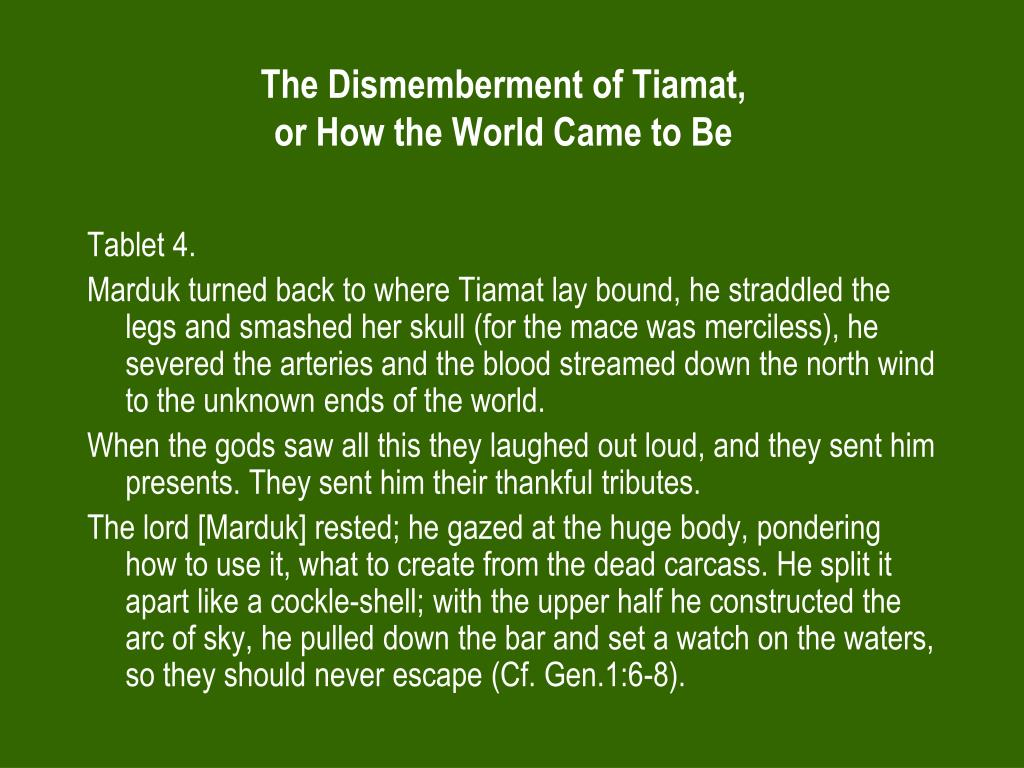 The Dismemberment of Tiamat,