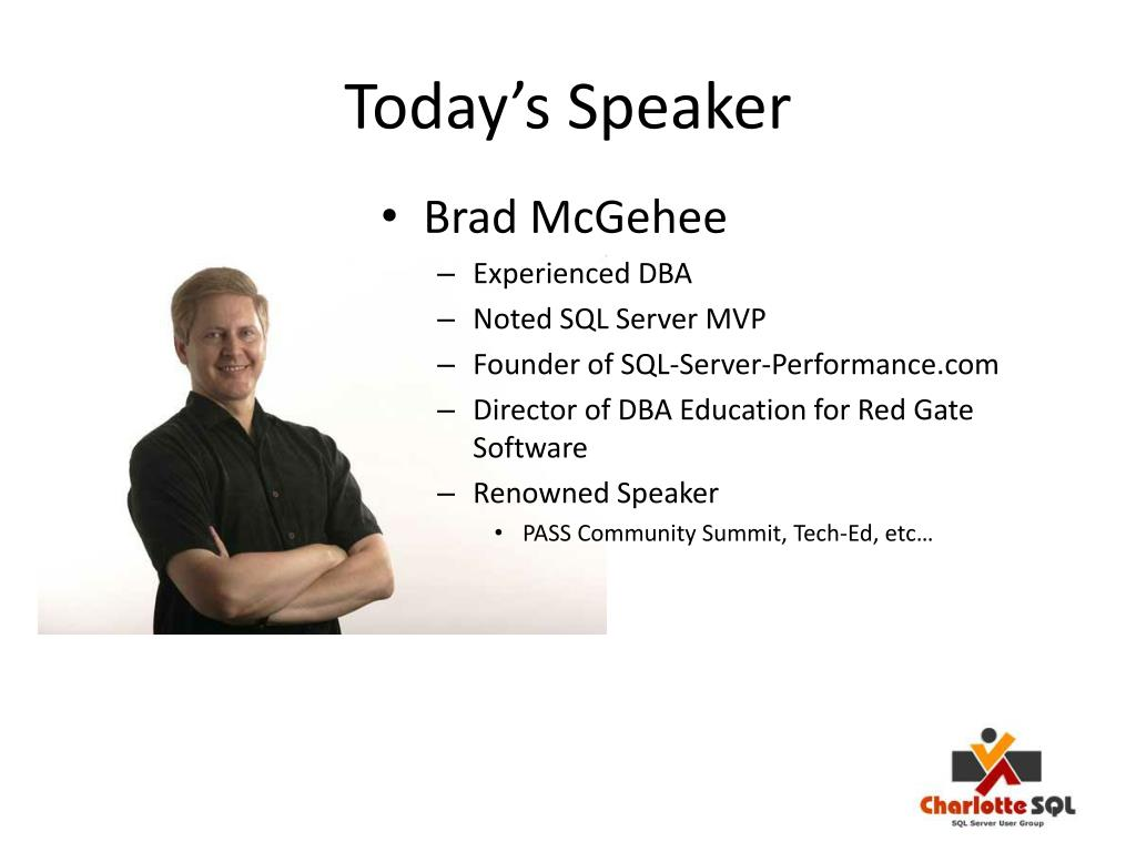 Today's Speaker