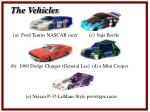the vehicles