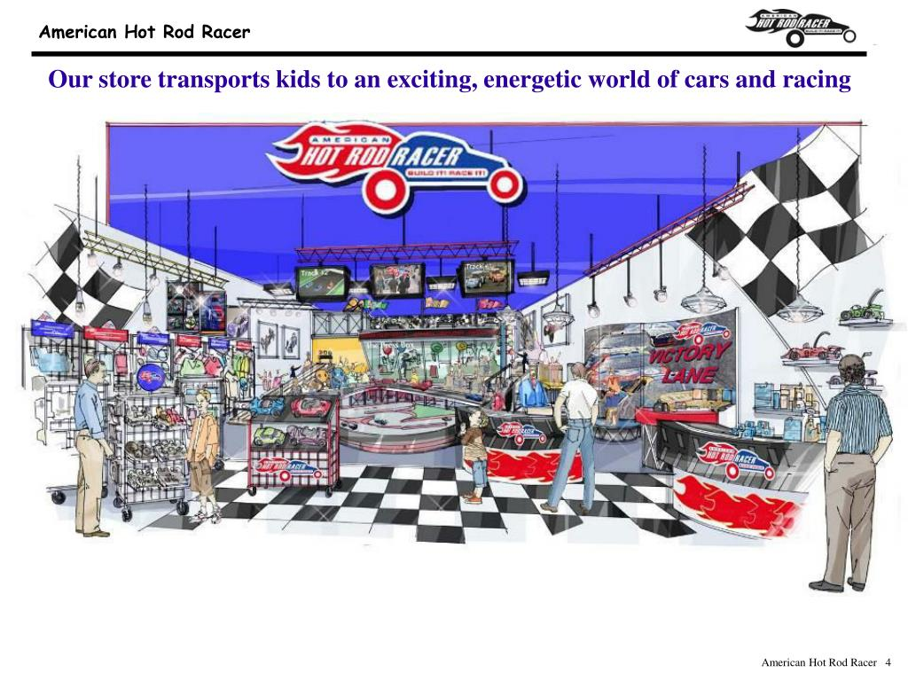 Our store transports kids to an exciting, energetic world of cars and racing