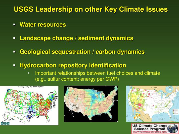 USGS Leadership on other Key Climate Issues