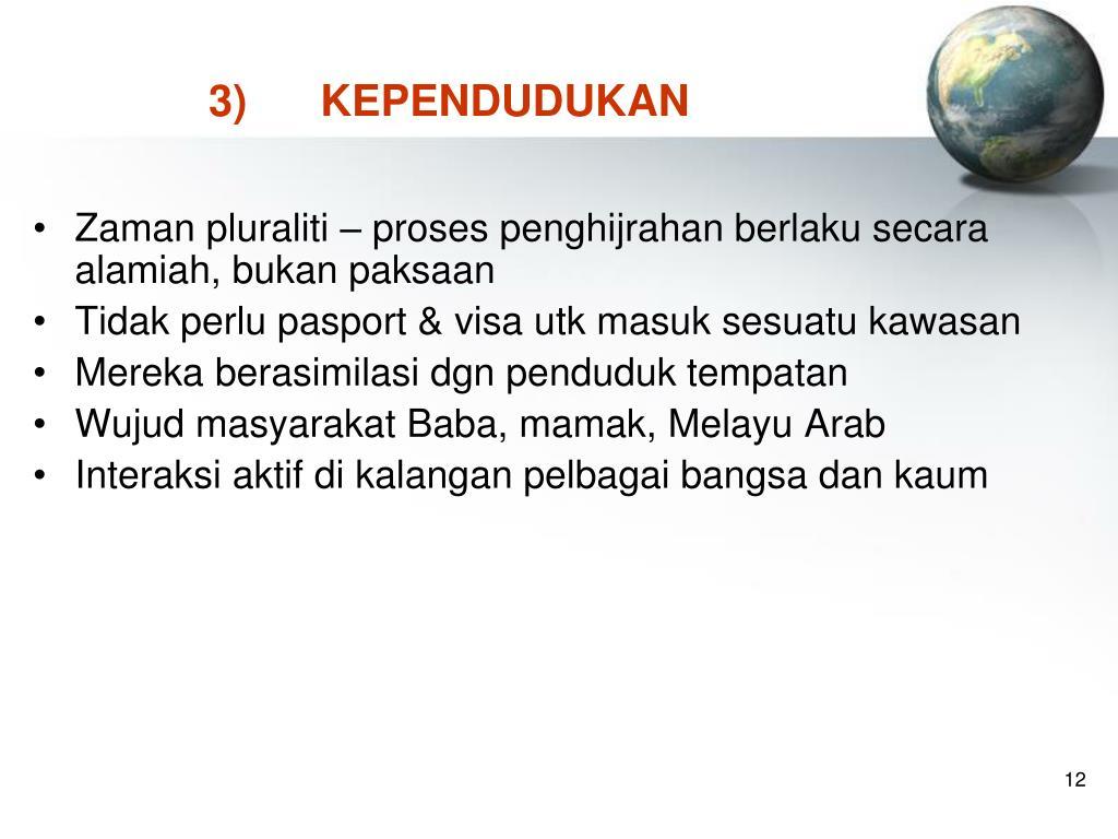 3)KEPENDUDUKAN
