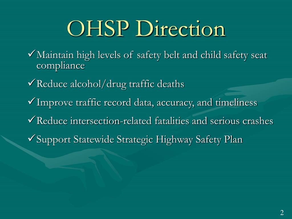 OHSP Direction
