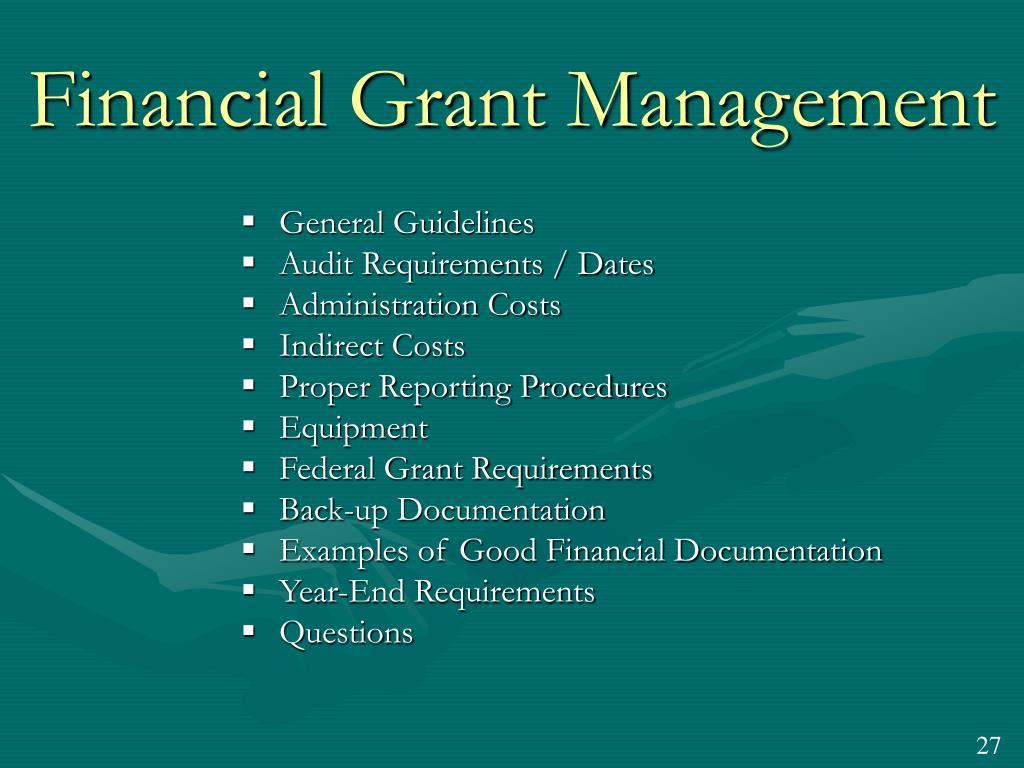 Financial Grant Management