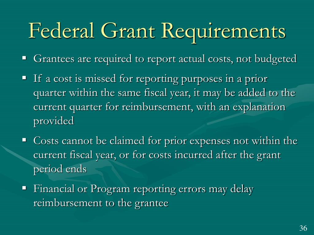 Federal Grant Requirements