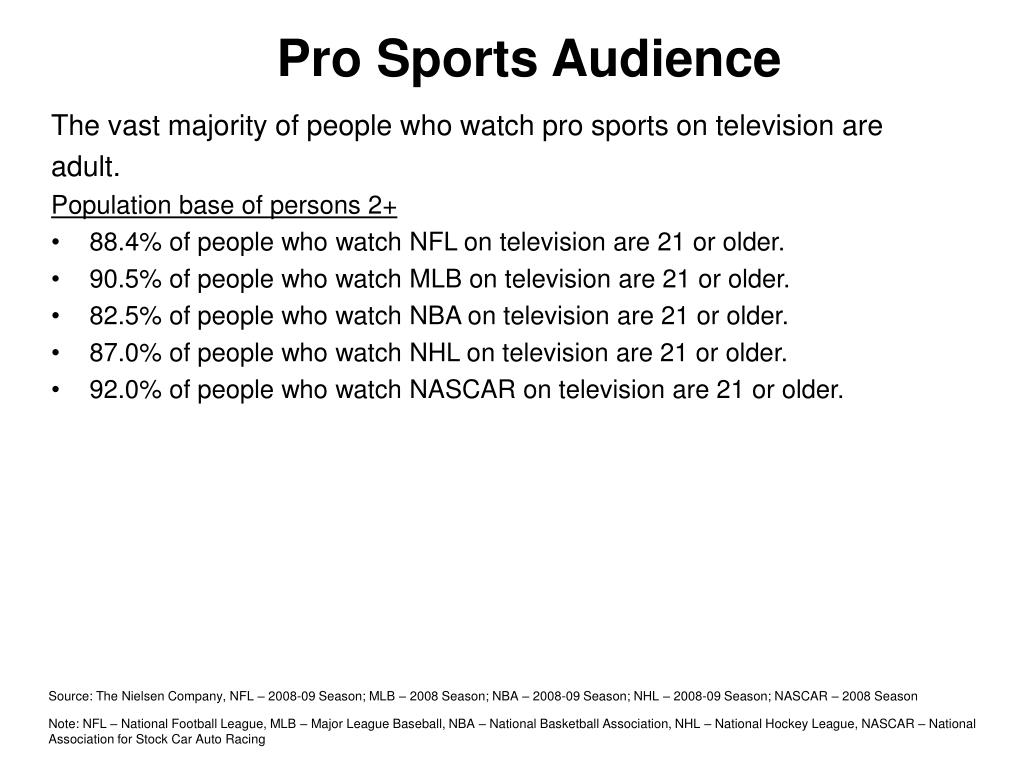 Pro Sports Audience