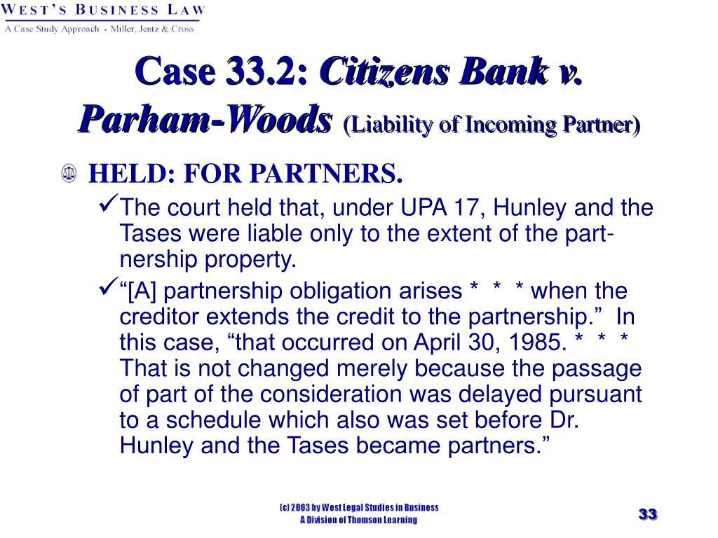 Case 33.2: